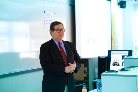 """I love data, I'm a geek, I'm unusual among reporters."" Prof. Rick Dunham, HKBU, December 16, 2016"